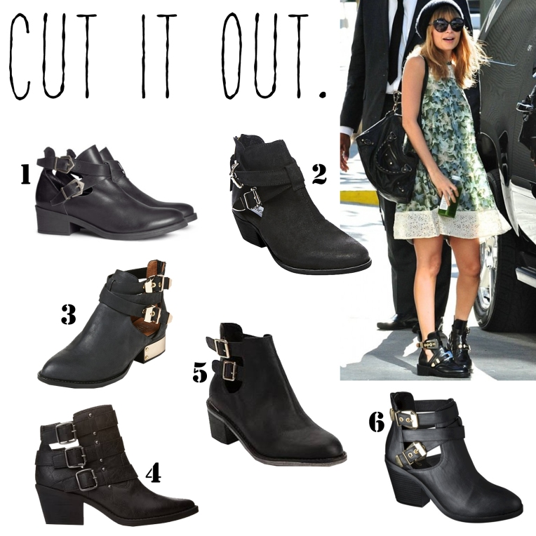 Cut Out Booties.